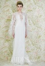 Angel Snachez trumpet wedding dress jewel neck cape