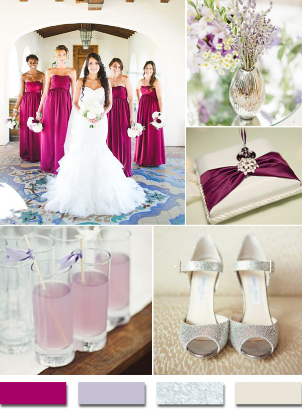 2015 fall wedding color schemes avp blog sangria lavender and silver 2015 trends bridesmaids aga jones photography via wedding chicks shoes via lover junglespirit Images