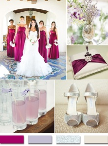 sangria lavender and silver 2015 trends Bridesmaids Aga Jones Photography via Wedding Chicks Shoes via Lover ly