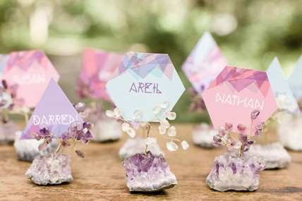 Modern-Bohemian-wedding-inspiration-place-cards-Brit and Co